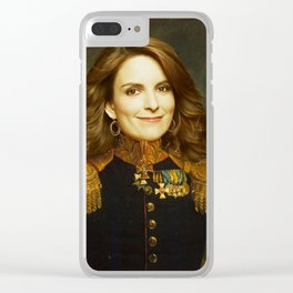 Tina Fey Classical Regal General Painting Clear iPhone Case