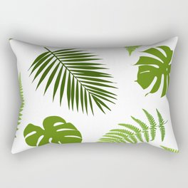 Tropical leaves seamless pattern. Rectangular Pillow