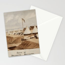 H.E. Valentine - Camp of Belger's Battery, Newport News, Virginia, 1863 Stationery Cards