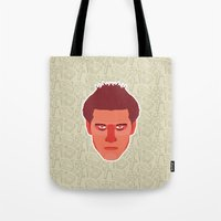 buffy the vampire slayer Tote Bags featuring Angel - Buffy the Vampire Slayer by Kuki