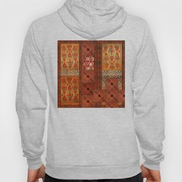 Vintage textile patches Hoody
