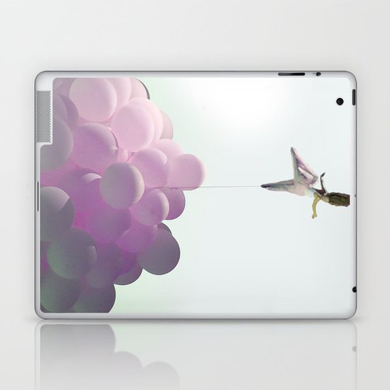 by a thread_ ballon girl Laptop & iPad Skin