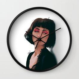 Feeling Girl Portrait Wall Clock