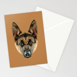 German Shepherd // Natural  Stationery Cards