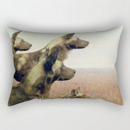 Hi, we are the wild dogs Rectangular Pillow