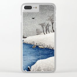 Takahashi Shōtei Snow on Ayase River Clear iPhone Case