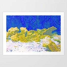 Coral Rocks Underwater Art Print
