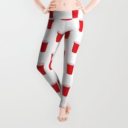 Beer Pong Illustration Leggings