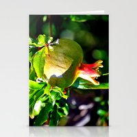pomegranate Stationery Cards featuring pomegranate by  Agostino Lo Coco