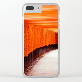 Red Torii Gates in Kyoto Japan Clear iPhone Case