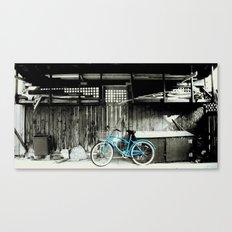 blue bike series 3.1 Canvas Print