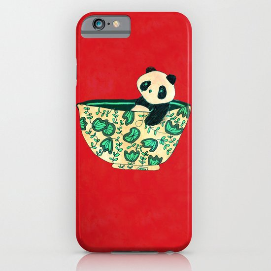 Dinnerware sets - panda in a bowl iPhone & iPod Case