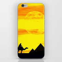 egyptian iPhone & iPod Skins featuring Egyptian supermoon by Pirmin Nohr