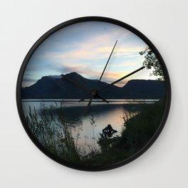 Tetons at Dawn Wall Clock
