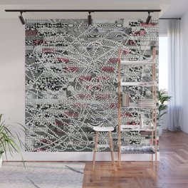 A Virtual Two By Four (P/D3 Glitch Collage Studies) Wall Mural