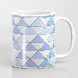 Triangle Pattern No. 9 Shifting Blue and Turquoise Coffee Mug