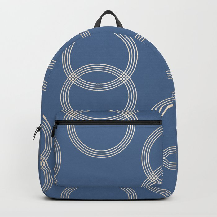 Simply Infinity Link in White Gold Sands on Aegean Blue Backpack