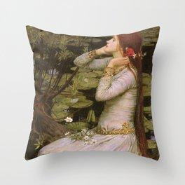 Ophelia by John William Waterhouse Throw Pillow