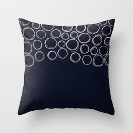 Circle Lines Throw Pillow