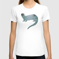 otter T-shirts featuring Otter by Natural Wonders
