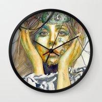 artpop Wall Clocks featuring ARTPOP by Abhivision