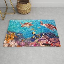 Zach's Seascape - Sea turtles Rug