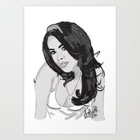 aaliyah Art Prints featuring Aaliyah by EA88