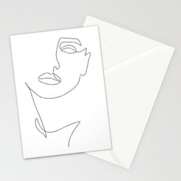 Triple Face Line Stationery Cards