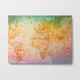 Color your World Metal Print