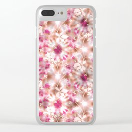 kaleidoscopic background.White and red colors Clear iPhone Case