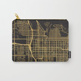 SALT LAKE CITY UTAH GOLD ON BLACK CITY MAP Carry-All Pouch