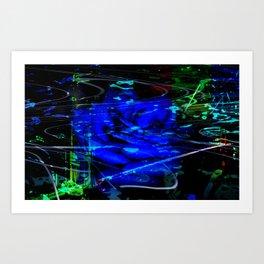 Blue Rose Mist Art Print
