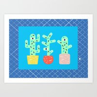 3 cactus are better than 1 Art Print