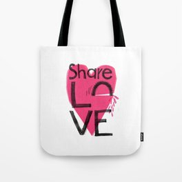 Share love Tote Bag
