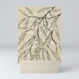 Line Drawing Leaves #3 Mini Art Print
