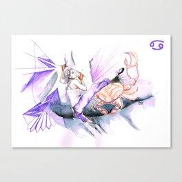 Couragious Cancer Canvas Print