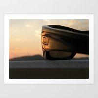 tyler oakley Art Prints featuring Oakley sunset by Bret Caiazzi