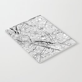 Paris White Map Notebook