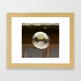 bubble wishes Framed Art Print