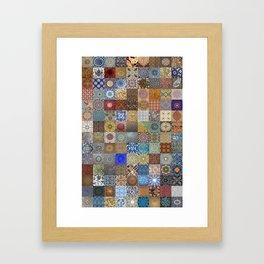 Persian Art Montage Framed Art Print