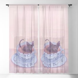 Not Everone's Cup Of Tea - Sphynx Cat - Part 2 Sheer Curtain