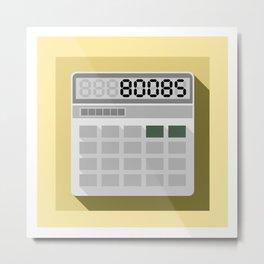 Calculator 80085 Metal Print