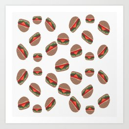Its Raining Cheeseburgers Art Print