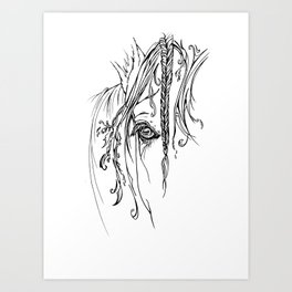 Tribal Horse Art Print