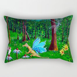 Discussion in the Woods Rectangular Pillow