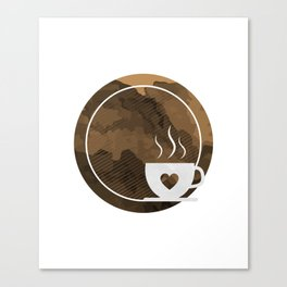Coffee brings the passion - I love Coffee Canvas Print