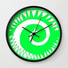 Round Scream in Green Wall Clock