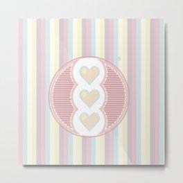 Cute heart Metal Print