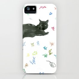 cat and toy iPhone Case