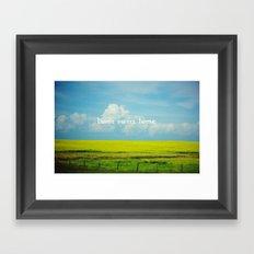 Alberta, Home Sweet Home Framed Art Print